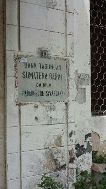 Naambord Padangsche Spaarbank