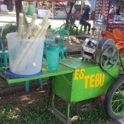 Terug in Bangko, een ijsje van suikerriet.
