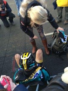 Corné uitgeput aan de finish in Zolder