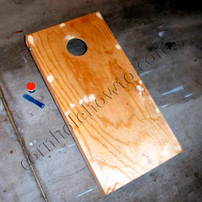 How to paint cornhole how to all patched up with wood filler solutioingenieria Images