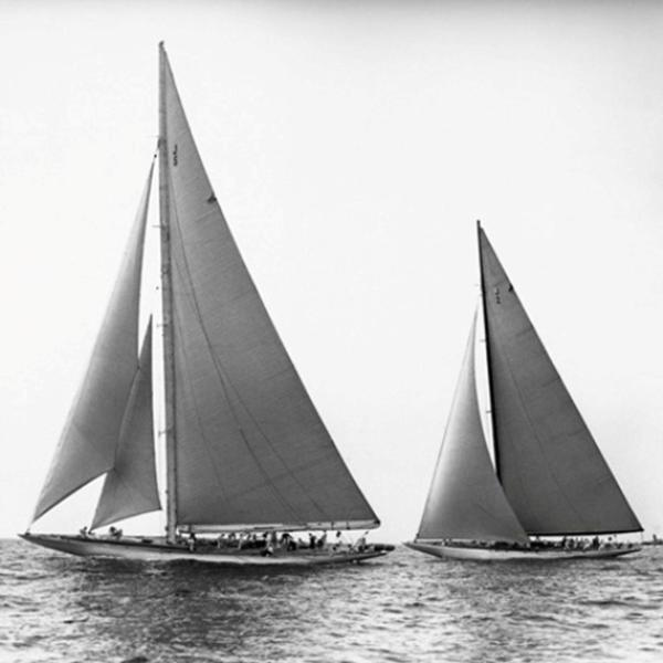 EDWIN LEVICK Sailboats in the America's Cup, 1934
