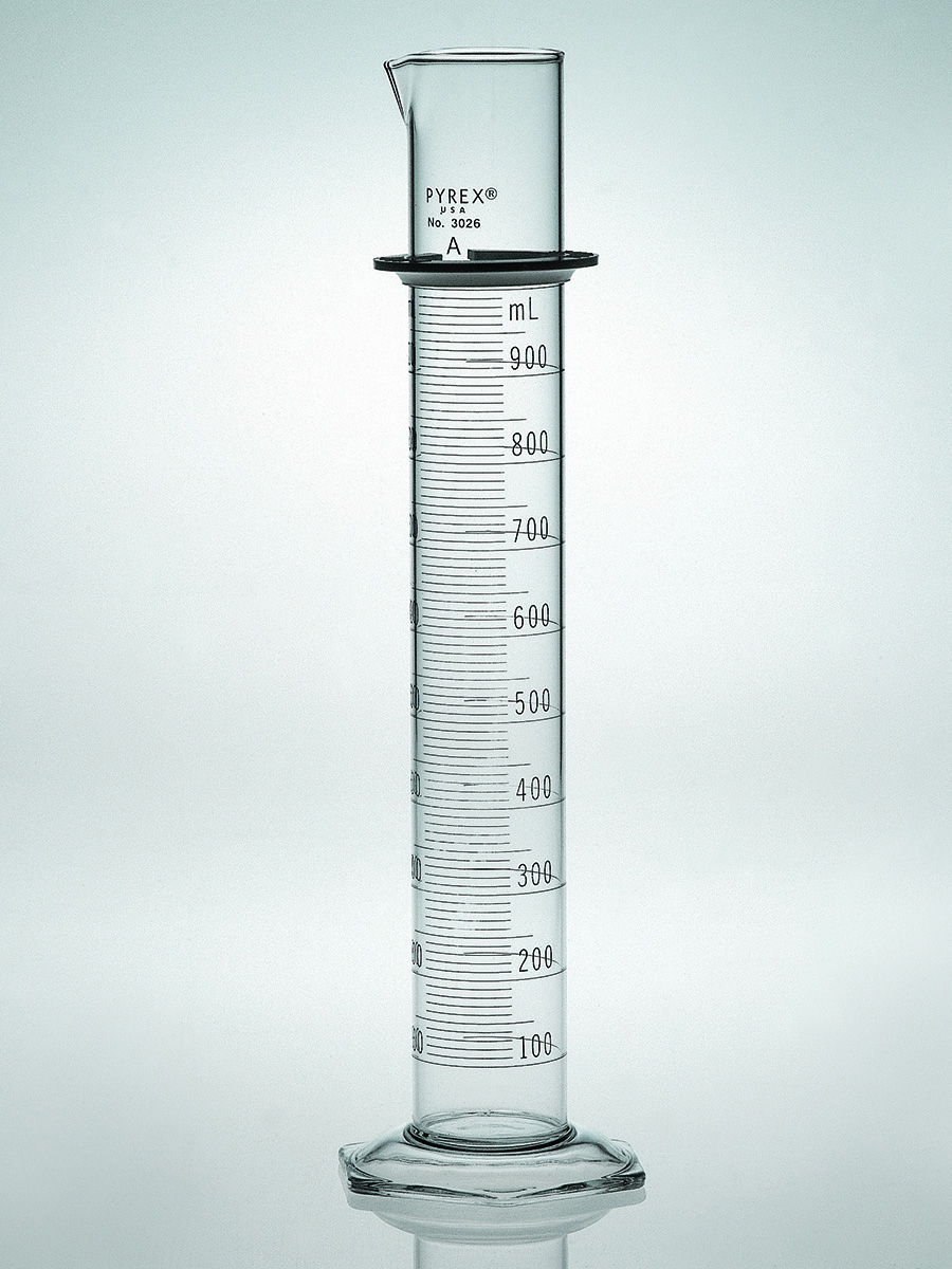 Pyrex Double Metric Scale 2l Class A Graduated Cylinder