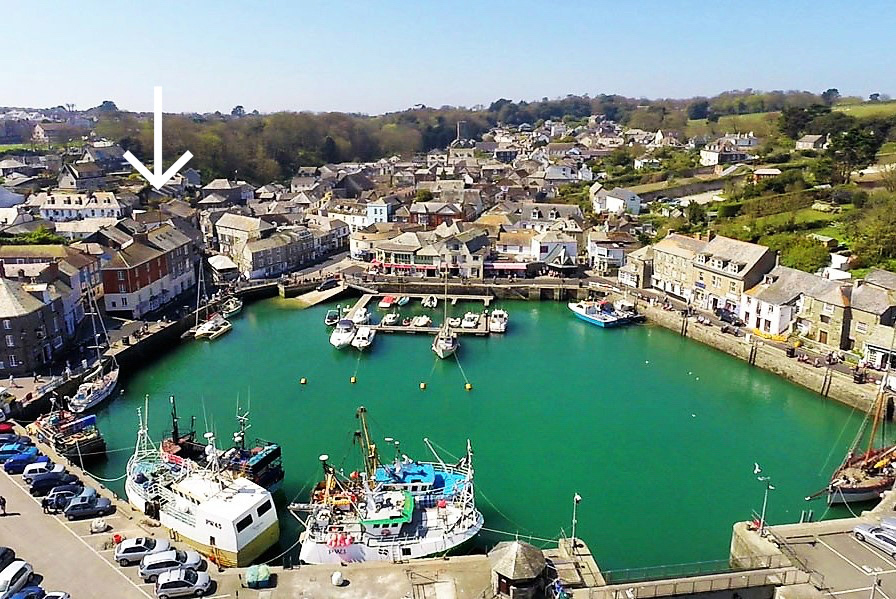 holiday flat in central Padstow Cornwall location