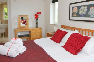Gulland Ocean Blue holiday apartment double bedroom
