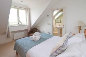 Pendarves Ocean Blue holiday apartment master bedroom