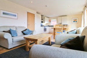 The Burrow holiday home Cornwall living room