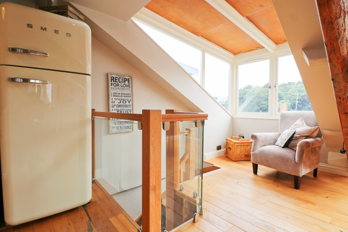 character holiday cottage in Padstow designer fridge