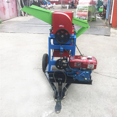 movable millet threshing machine