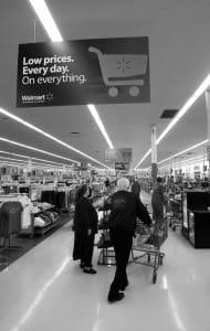 walmart low prices b&w