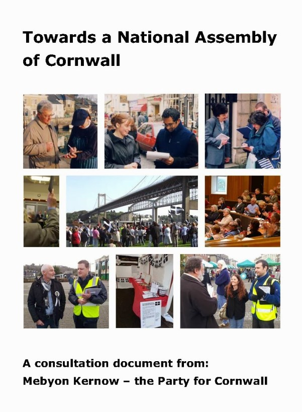 Towards a National Assembly of Cornwall A5 front