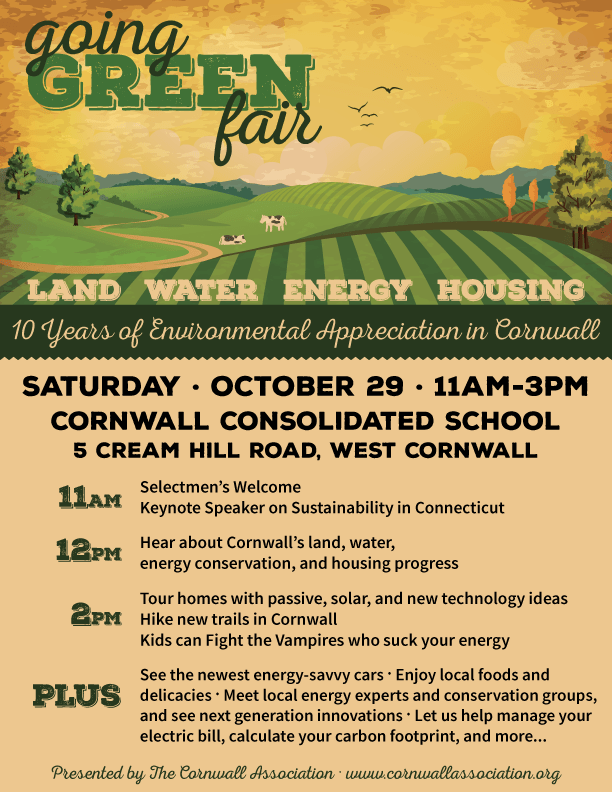 Going Green fair Poster