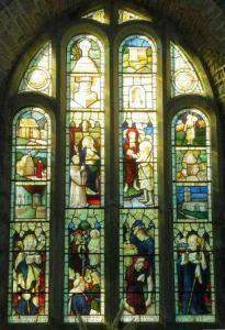 Memorial window in Morwenstow Church to Roberts Stephen Hawker