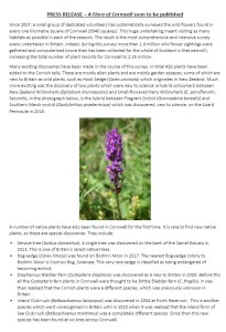 Flora of Cornwall Press Release