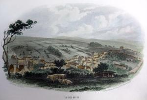 Bodmin - Steel engraving with hand colouring c1832