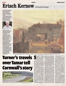Turner's travels over Tamar tell Cornwall's story