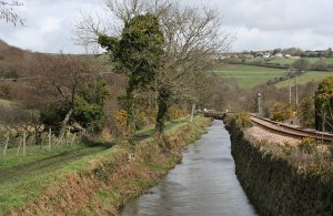 The canalised River Par by Tony Atkin
