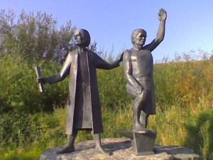 Statue of Michael 'An Gof' & Thomas Flamank, St Kevern