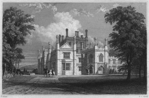 Tregothan by Thomas Allom c1830 after first rebuilding.