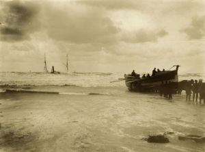 Hayle lifeboat - SS Escurial Shipwreck off Portreath - 1895