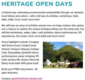 CLICK to open link to Wheal Martyn Heritage Open Day 2021