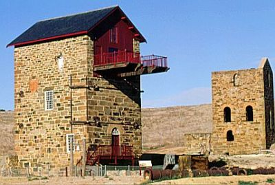 2 Engine Houses at Burra Burra Mine, Australia