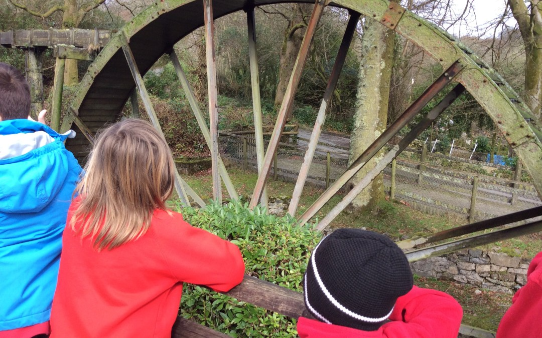 Penponds School visit the largest waterwheel in Cornwall at Wheal Martyn Museum!