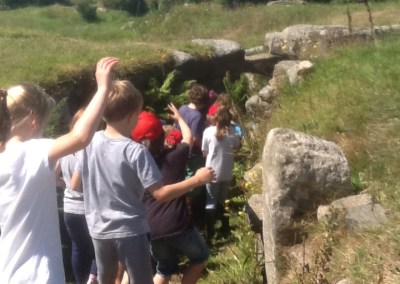 St Hilary School explore the fogou at Carn Euny
