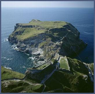 Tintagel viewed from above the mainland