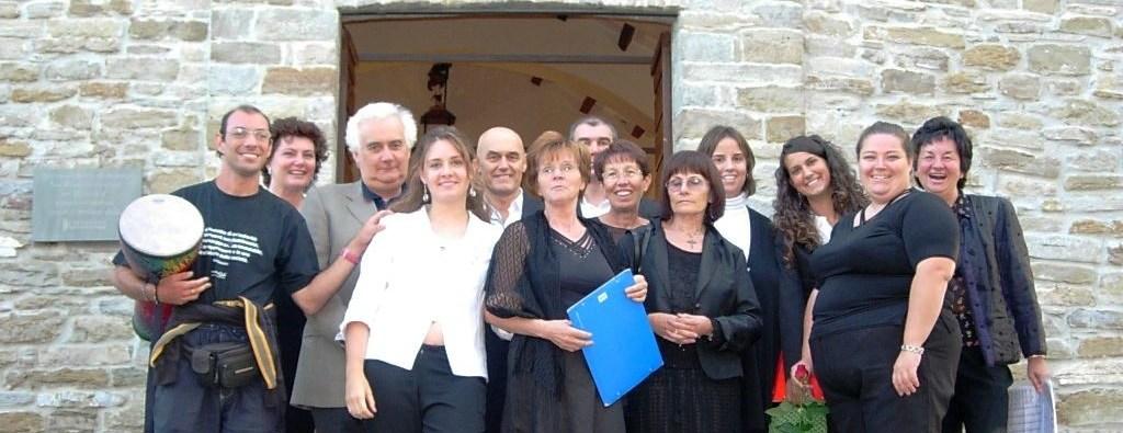 Il coro a Varsi, nel 2007