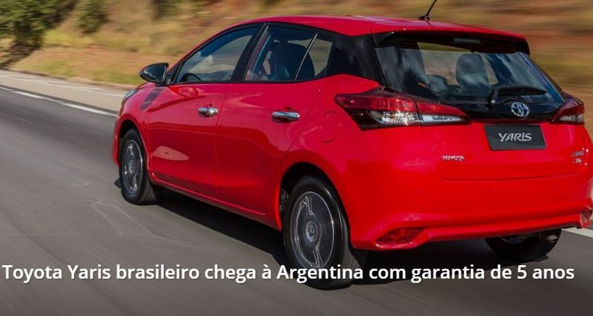 Modelo Brasileiro do Toyota Yaris Chegará à Argentina