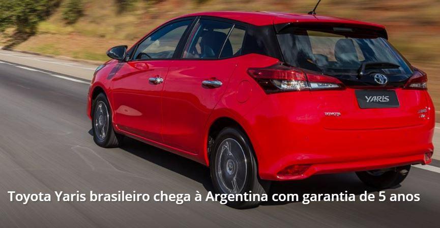 Yaris Brasileiro na Argentine