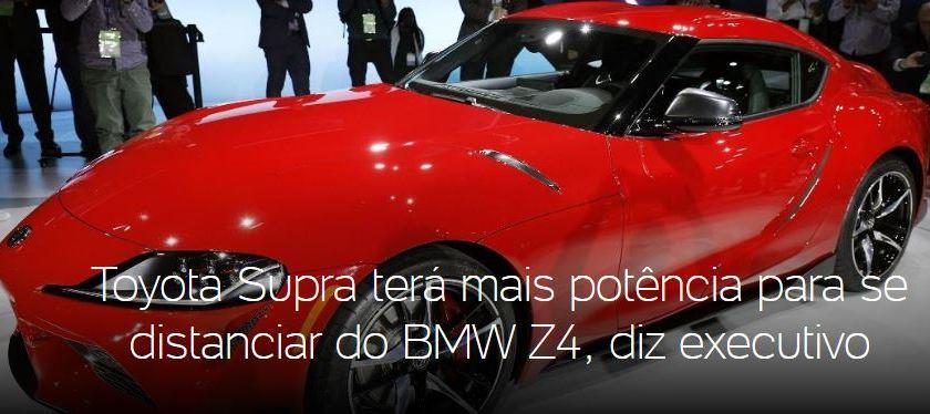Toyota Supra: Veículo ganhará mais potência para passar da BMW Z4