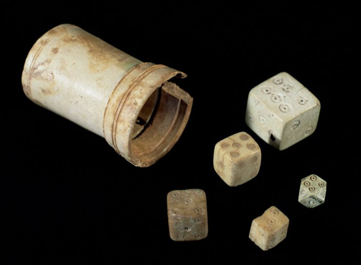 Dice made of bone