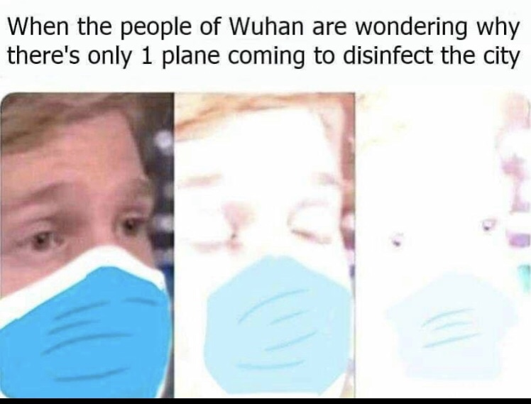 When the people of Wuhan are wondering why there is only 1 plane coming to disinfect the city