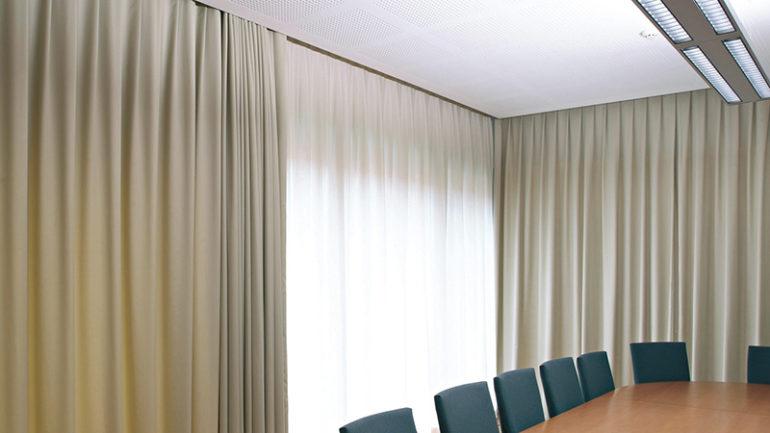 motorised curtain tracks design and