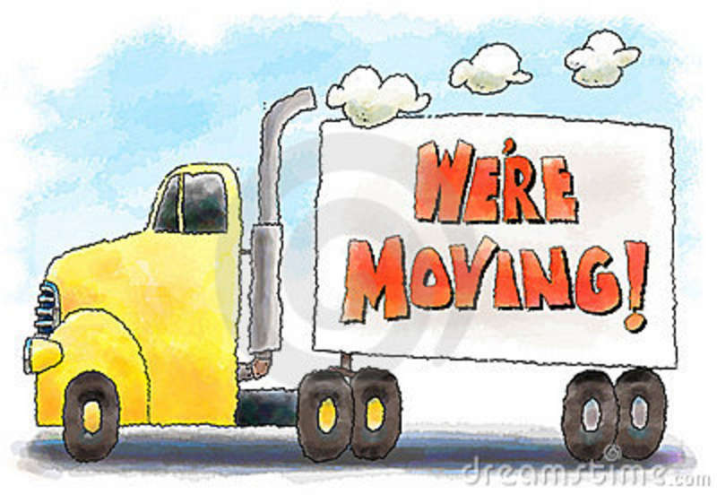 moving truck clipart image colorful cartoon moving van or truck rh coronationtravel com Moving Truck Moving Boxes Clip Art