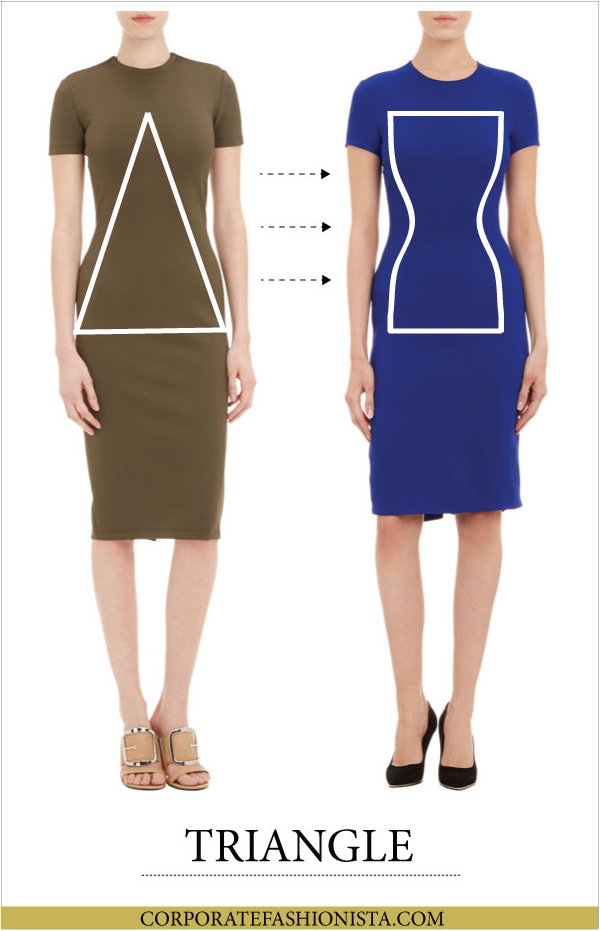 Discover How To Dress Your Body Type (Once & For All!) - Body Type: Triangle | CorporateFashionista.com