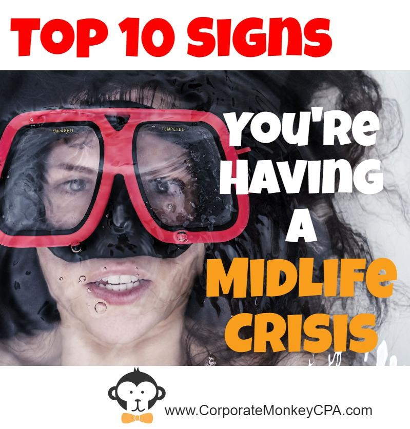 Top 10 Signs You're Having A Midlife Crisis