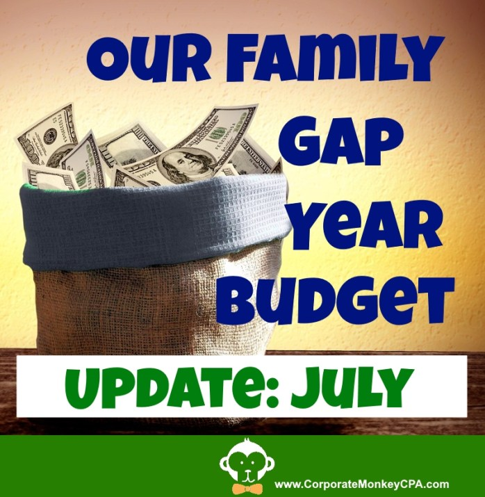 Family Gap Year Budget Update - July