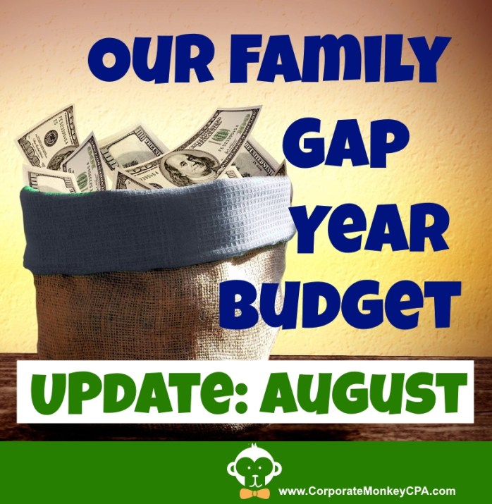 Family Gap Year Budget Update August