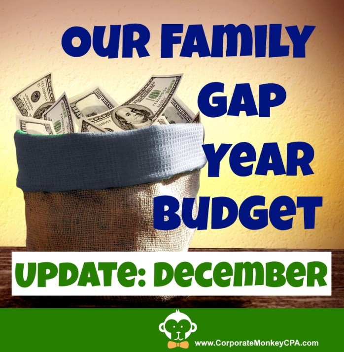 Family Gap Year Budget Update December