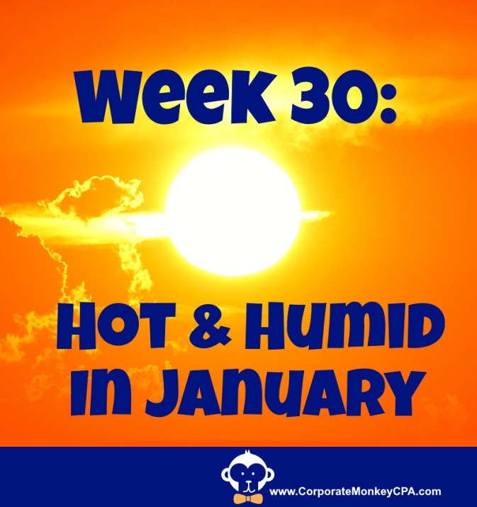 Week 30 - Hot and Humid in January