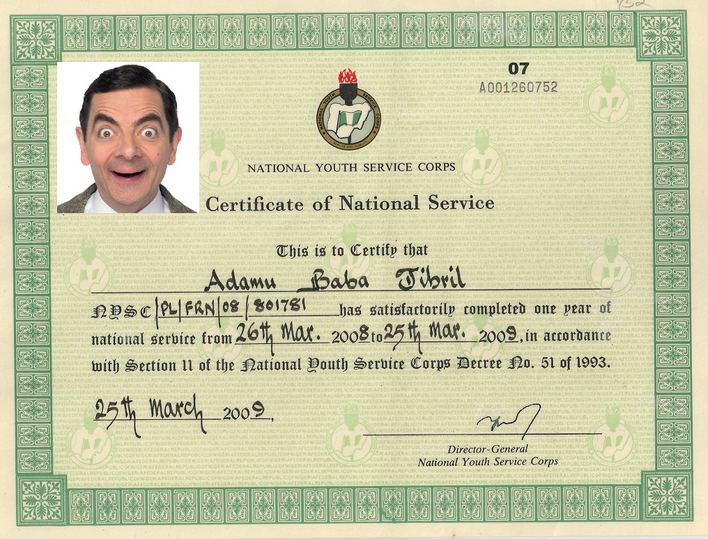 New NYSC Certificates will Have Bearer's Picture