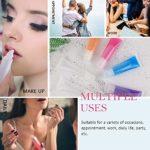 50 Tubes de Lustre de lèvre, 1 Entonnoir 1 seringue et 2 Autocollants Tubes cosmétiques vides clairs pour cosmétique Maquillage, Gloss, baume à lèvres, Accessoires de Voyage, Cadeaux, Bricolage