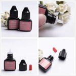 Extension de cils 2X10ML: 1 mini ventilateur USB + 200x tampons de nettoyage + 100x brosses jetables + 100x cotons-tiges + 50x tampons oculaires en gel + 2x pincettes