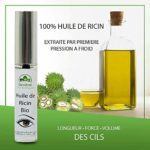 Huile de Ricin BIO pour Cils et Sourcils, Lot de 2 Mascaras, Stimule et Accélère la Pousse des Cils et Sourcils, Naturellement Riche en Vitamines, Hypoallergénique, Efficacité Cliniquement Prouvée