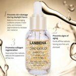 Skin Essence, Ampoule en or 24K, 99% d'or pur, collagène, anti-oxydants, anti-âge, nouvelle solution pour la peau, blanchissant, hydratant et raffermissant de l'essence du rousseur.