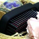 Brosse Lissante Chauffante-CNXUS Brosse de chauffage électrique en céramique, affichage LED+Peigne à cheveux de la température réglable, brosse chauffante ionique+anti-échaudage+fermeture automatique