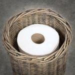 XUYIWash Fait à la Main Fait à la Main Support de Papier Toilette sur Pied Support de Panier de Rangement de Salle de Bain