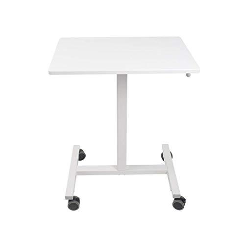 Plates-formes de levage Bureau d'ordinateur assis et debout mobile Bureau Table de conférence intérieure Table des soins infirmiers en direct de diffusion nuit Stands (Couleur: Blanc, Taille: 62 * 43
